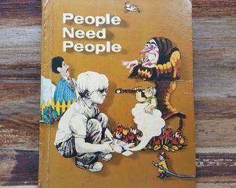People Need People, 1973, vintage school book, vintage kids book