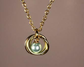 Saturn Necklace (Seafoam Green)