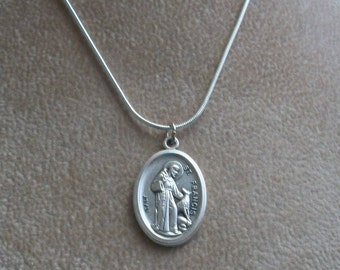 Saint Francis Necklace, Saint Francis Pet Tag, Spiritual Pet Tag, Protector of Animals, Pet Tag, Zipper Pull, by Brendas Beading on Etsy