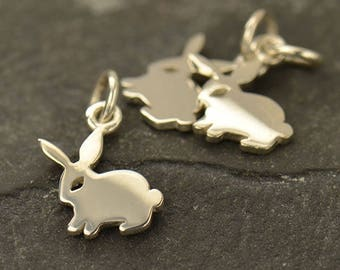 Bunny Necklace - Solid 925 Sterling Silver Year of the Rabbit Charm -  Insurance Included