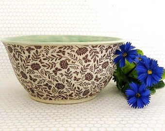 Serving Bowl - Cereal Bowl - Ceramic Bowl - Dip Bowl - Hand Thrown Bowl - Stoneware Bowl - Ready to Ship