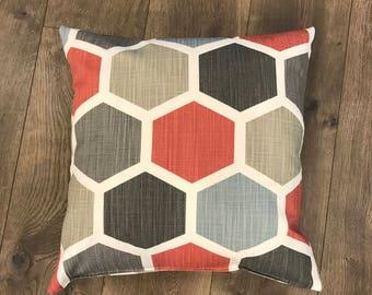 Trendy Hexagon Down Feather Pillow