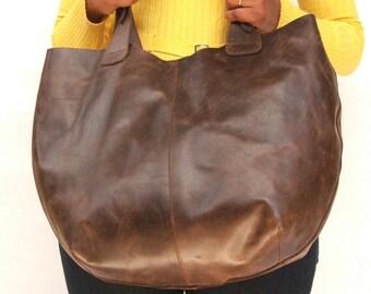 Tote bag Women Market bag  leather shoulder hobo bag Dark brown leather bag market bag library bag ladies laptop bag  hobo bags leather bag
