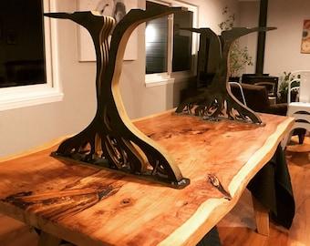 Live Oak Tree Metal Dining Table Legs