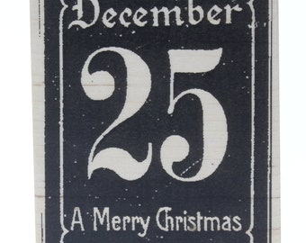 Stampington And Co December 25th Merry Christmas Wood Mount Rubber Stamp