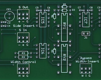 Stereo Width Controller for Audio Mastering DIY Bare PC Board