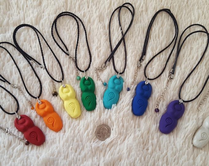 Goddess, Divine Feminine, Divine Mother 8 piece Chakra necklace set
