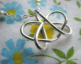 Small Celtic Sister Heart Necklace, Sister Necklace