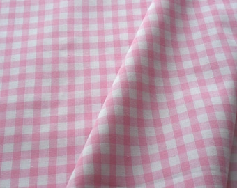 """a beautiful cut of cotton fabric """"pink gingham"""""""