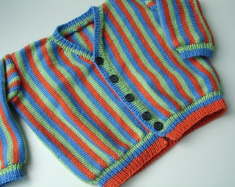 Custom knitted Bert sweater cardigan  for toddlers