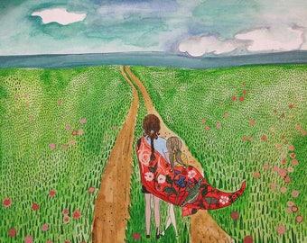 Art Print: Flower Fields