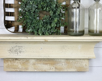 Farmhouse Wood Shelf | Farmhouse Decor | Distressed Shelf | Wood Shelf | Farmhouse Find Shelf | Shelf