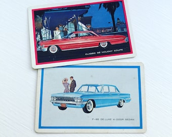Vintage Oldsmobile Playing Cards Set of 2 Singles Journaling Scrapbook Card Making