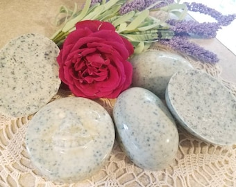 Rose lavender shea butter bar soap 2 bars