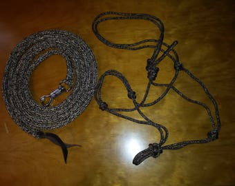 12' Lead Rope/Soft Rope 2-knot Halter