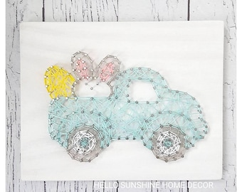 READY TO SHIP Easter Bunny Truck
