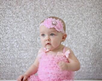 Baby Headband, Infant Headband, Toddler Headband, Girls Headband - Shabby Chic Headband Light Pink Headband, Easter Headband
