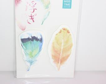 sticky notes / memopad feather no. 4