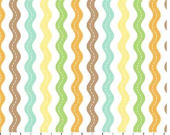 Jungle Friends - Chevron  - 1 Yard Cut - 21798-10 - Northcott Fabric - Quilting Fabric- Cotton Fabric
