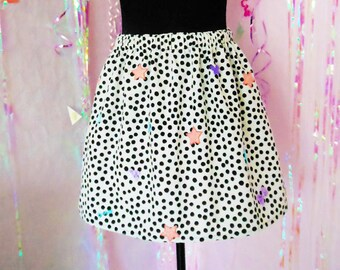 Fairy Kei, Harajuku Polka dot Cute skirt.