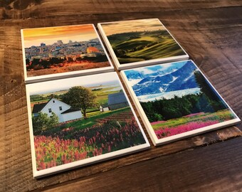 Custom Photo Coasters (3 Styles)