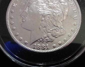 1881 S Morgan Silver Dollar. MS+++