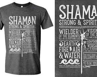 World of Warcraft / WoW inspired T-shirt - SHAMAN Edition - Unisex / Mens / Ladies / - Dark Heather