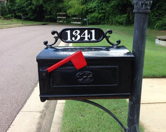 Custom Mailbox Number Decals ~ Set of 2 (Decals Only)