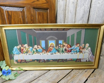Vintage Mid Century Paint by Number - The Last Supper