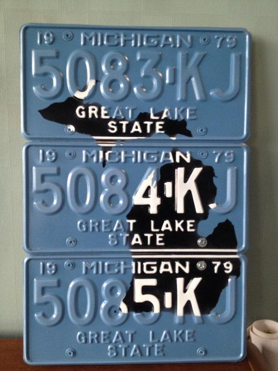 Michigan License Plate Wall Art - 1979