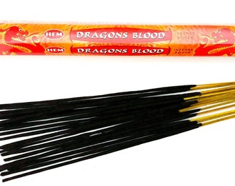 Dragons Blood Incense Sticks handmade for Smudging, Aromatherapy, Yoga, Meditation, Cleansing, Good Fortune