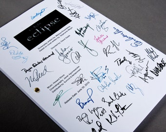 Twilight Eclipse Film Movie Script with Signatures / Autographs Reprint Unique Gift Screenplay Present TV Fan Geek  Team Jacob Edward