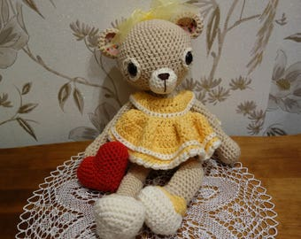 Teddy-bear Doris. Free shipping!