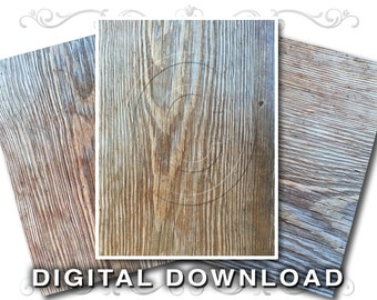 3 Wood Grain Digital Downloads | Background Images | Wooden Boards Clip Art Photos | Aged Wood Textures | Commecial Use | Wood01