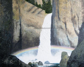 Original Oil Painting on Canvas -Tower Fall - 20 x 16
