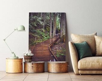 """landscape photography, landscape art, mountain art, large art, large wall art, large canvas art, canvas wall art, art - """"Through the Cedars"""""""