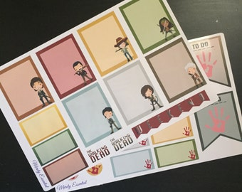 Walking Dead Planner Stickers