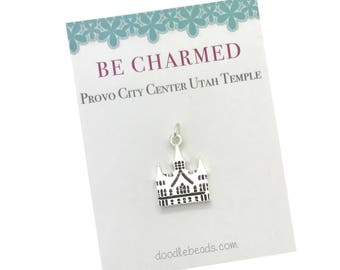 Provo City Center Temple, LDS Temple charm, Provo City Utah Temple, Mormon Temple charm, LDS Wedding, personal progress temple charm YW gift