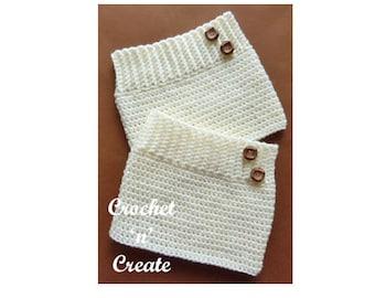 Adult Boot Cuffs Crochet Pattern (DOWNLOAD) CNC60