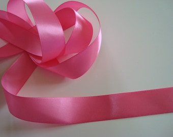 6 m lengths of satin ribbon pink girly 22 mm in width - 6 lengths