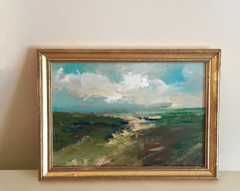 Landscape Painting- Framed- Small Painting - Original Painting- 6 x 9 approx. inch - including Frame -  Collectible - Fine Art