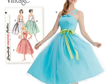 OUT of PRINT Simplicity Pattern 1194 Misses' and Miss Petite Vintage Dress