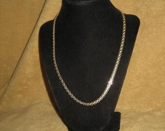 Sterling Bismark Chain Necklace Vintage