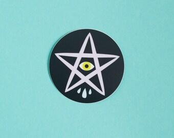 Sad Star Vinyl Sticker