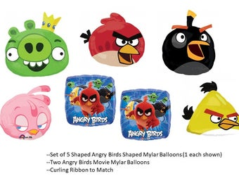 Angry Birds Mylar Balloons Set