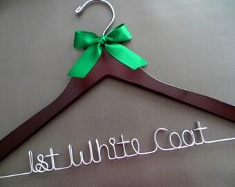 First White Coat Hanger, White Coat Ceremony, Doctor Hanger, Medical School Graduation Gift, Dr Hanger, Student Doctor Gift, New Doctor Gift