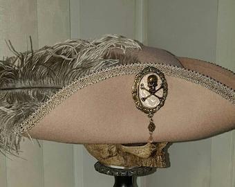 Pirate, Steampunk, Marie Antoinette, Baroque, 18th century tricorn