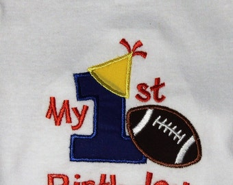 Baby boys 1st birthday,Boy first birthday,sports birthday, football birthday shirt,My first birthday,cake smash outfit,My 1st birthday boy