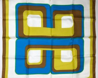 Vintage 1970s Bright Groovy Print Scarf