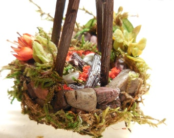 Miniature Fairy Campfire| Woodland Camping Miniatures Fairy Gardens, Terrariums, Miniature Forest Dioramas| Fairy Garden Supplies